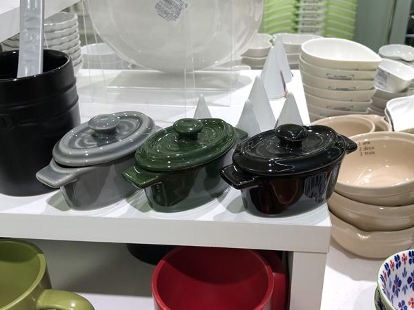 ミニココットオーバル型(黒・緑・グレー)