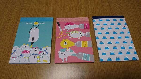 A6メモ帳(富士山柄)、ふぁにまるA6メモ帳80枚