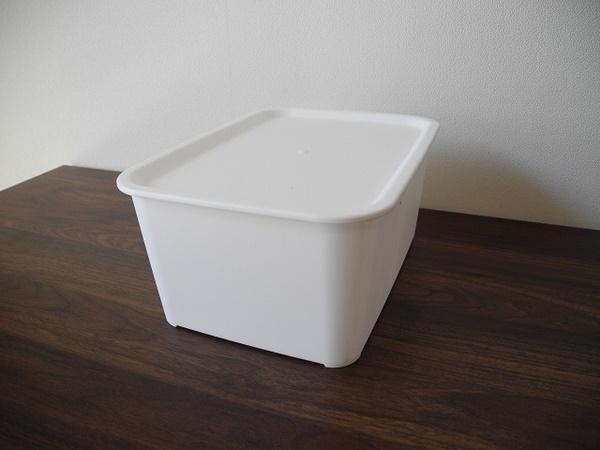 フタ付プラBOX L型 ホワイト