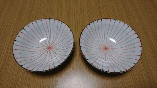 二色ライン4.0寸浅鉢
