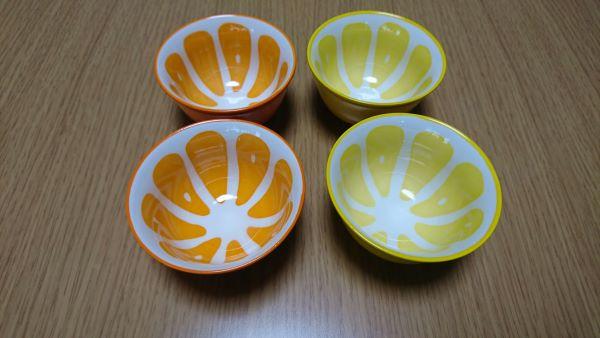 オレンジとレモンのお皿