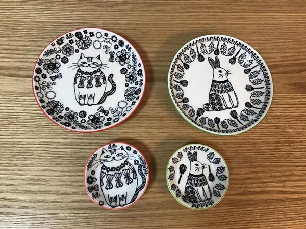 動物柄の平皿