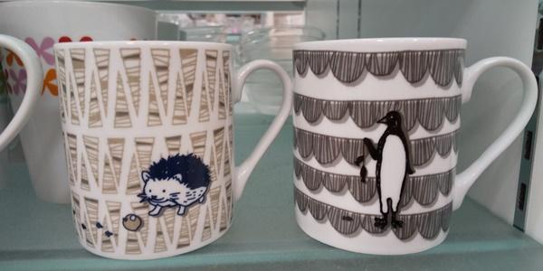 動物柄のマグカップ