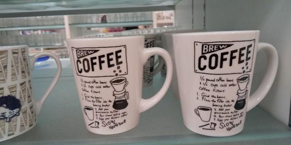 コーヒー絵柄のマグカップ