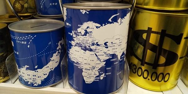 世界地図の貯金箱