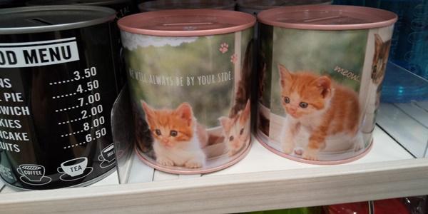 猫柄の貯金箱1
